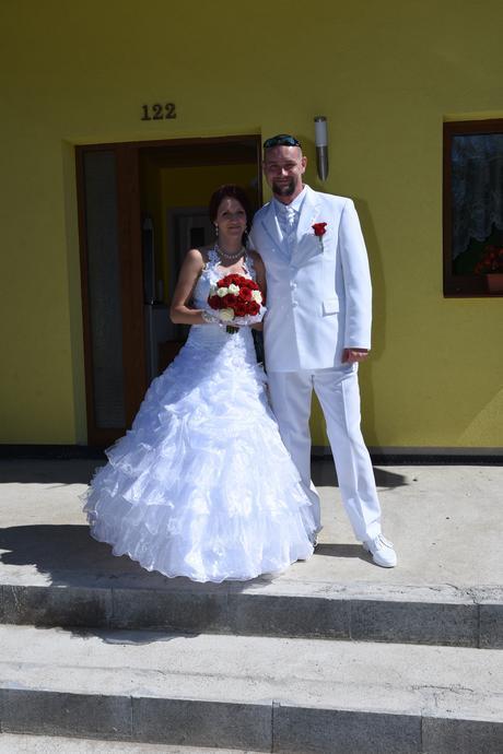 Sněhově bílé princeznovské šaty, vel. , 36