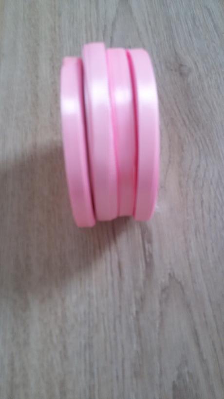 růžová saténová stuha 5 mm,