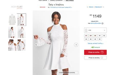 Bonprix premiové šaty z krajky a áčkové sukně , 36