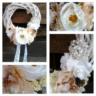 vintage svatební věnec s broží,