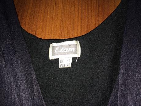 Černé tričko bez rukávů Etam, 42