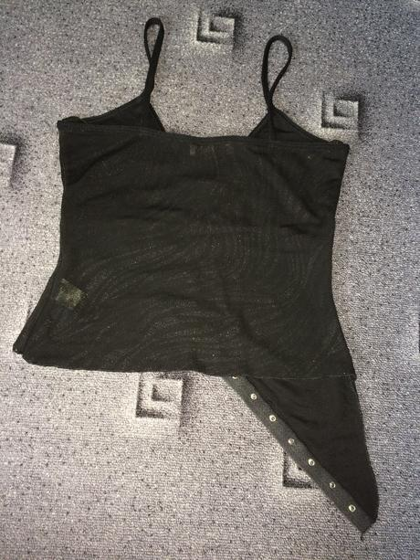 Černé tričko na ramínka, S