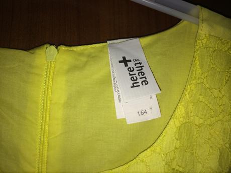 Žluté dívčí šaty, 164