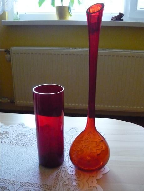 Sklenené vázy cena spolu     zlacnené,
