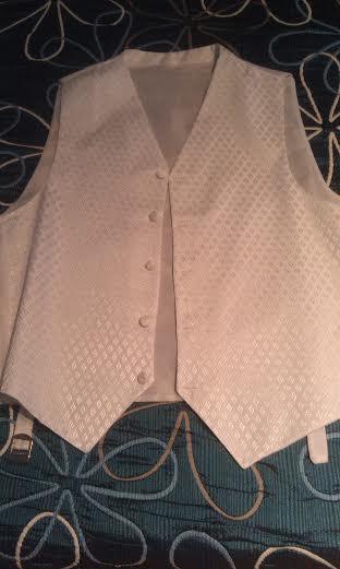 Svadobná vesta, francúzska kravata a vreckovka, 42
