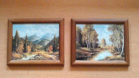 2 obrázky s krajinkou,