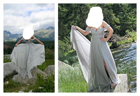 Spoločenské šaty s vlečkou, 38