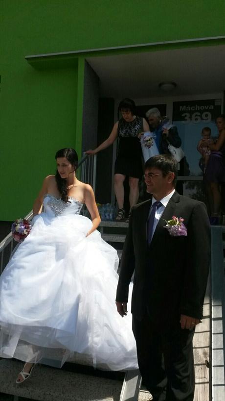 svatební šaty. vel. 36-38, 36