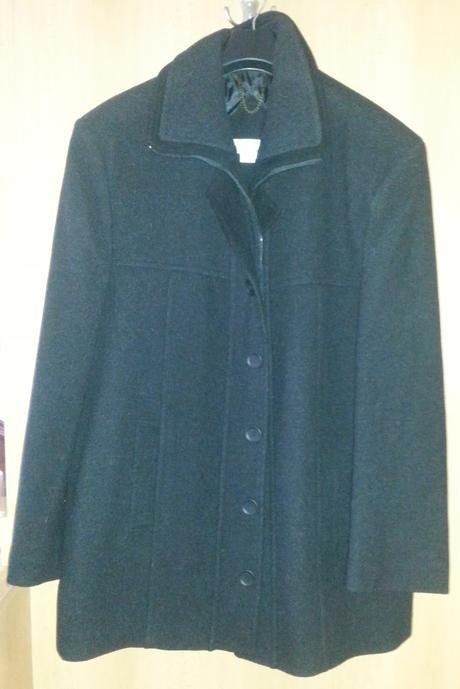 Nenosený čierny pánsky spoločenský kabát, XL
