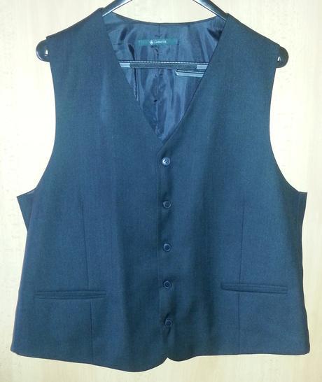 Raz oblečený pánsky čierny oblek 116/176/102, XL