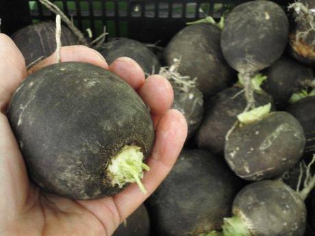 Čierna  domáca redkovka guličky/ cca 40 semienok ,