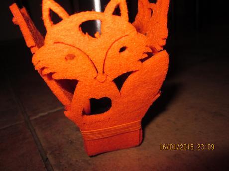 Papučky na váš stôl /oranžové  líšky,
