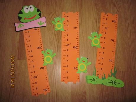 Rast. meter na stenu do detskej izby do 150cm,