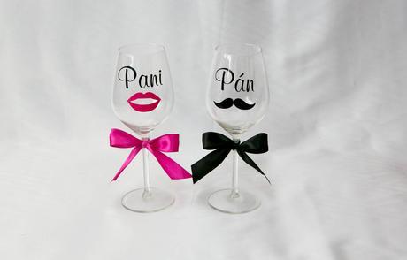 Poháre na víno Pán-Pani,