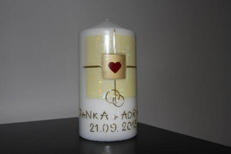 Svadobná sviečka motív C,