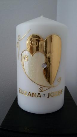 Svadobná sviečka Srdcia,