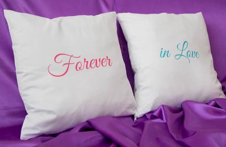 Vankúše s potlačou Forever in Love,