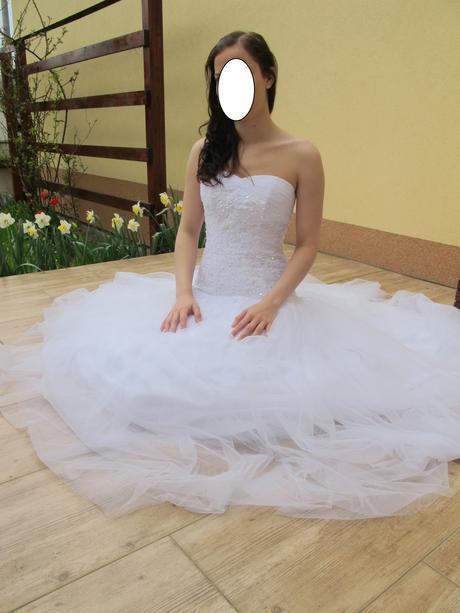 Svatební šaty ve stylu sv.šatů Nora, 38