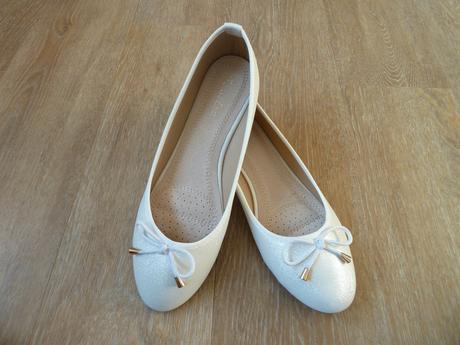 Svatební balerínky s něžnou mašličkou, 39