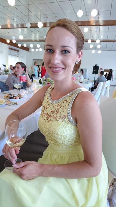 Žlté spoločenské šaty, S