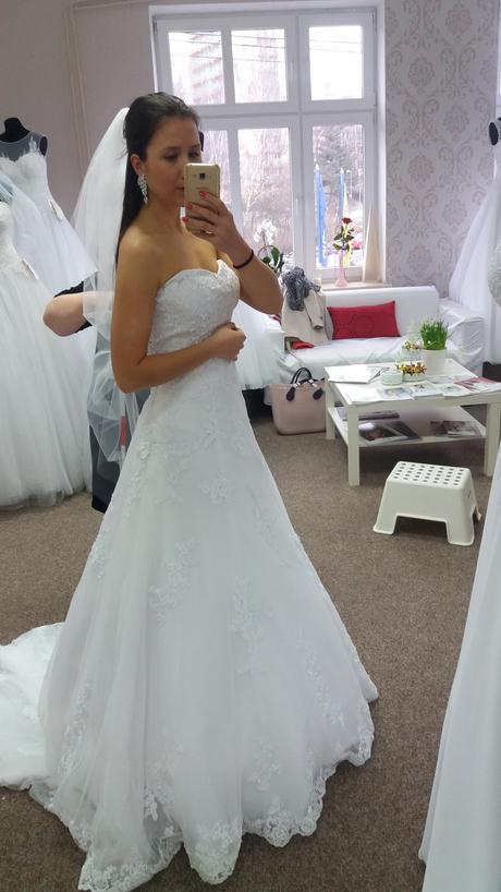 Svatební šaty vel.34-40, 36