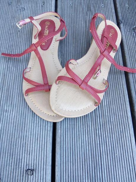Červené sandálky vel.36, 36