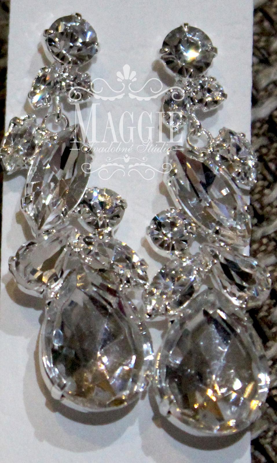 Luxusné náušnice jablonecká bižutéria (kód 5607) 6486fe83f64