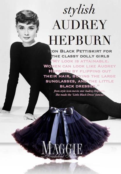 Dolly sukňa - audrey hepburn - veľ.M,