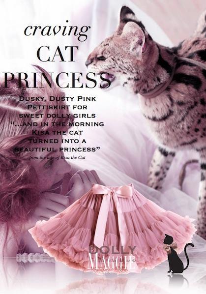 Dolly sukňa - Mačacia princezná veľ.XL, XL