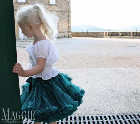 Dolly sukňa - Modry vtáčik - veľ.L, L