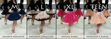 Dolly sukňa - Princezná a žabiak - veľ.XL(36-40), XL