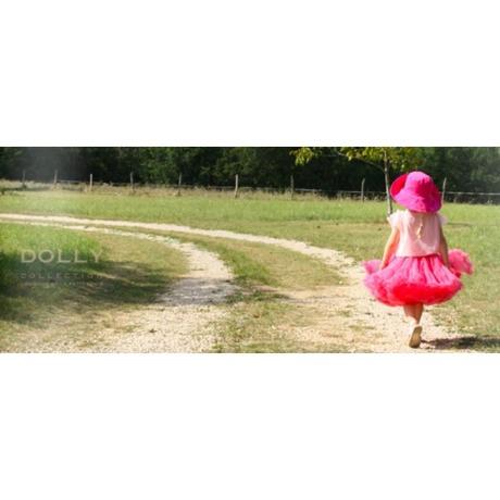 Dolly sukňa-šípková ruženka- melónová veľ. Petite,