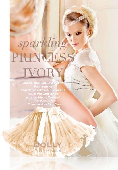 Dolly sukňa - Slonovinová Princezná - veľ.L, L