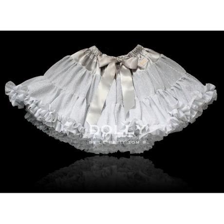 Dolly sukňa - Trblietavá strieborná - veľ.L(34-38), L