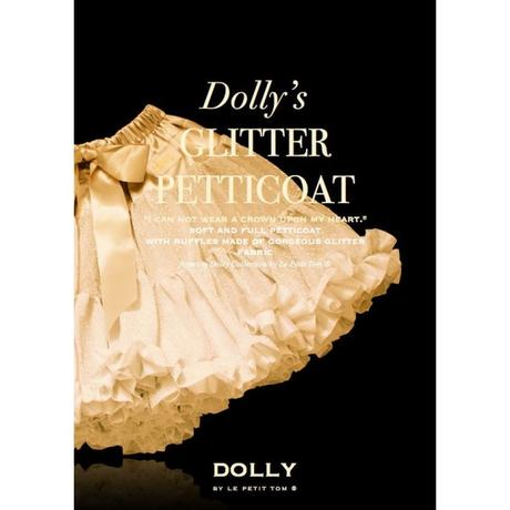 Dolly sukňa - Trblietavá zlatá - vel.Teen (36-42), XL