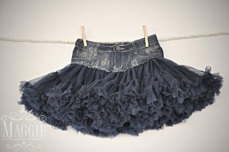 PETTI suknička kombinovaná s riflovinou, 34