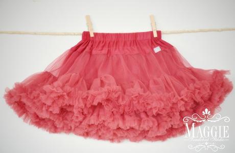 PETTI suknička - Raspberry red - veľ.L (34-36), L