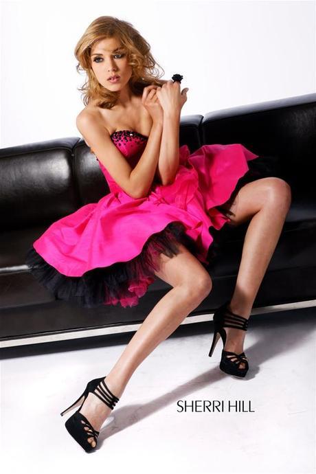 Spoločenské šaty Sherri Hill - Fuchsia, 34
