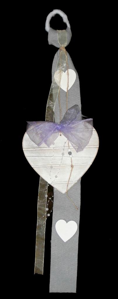 Srdce na dekoraci, svatební dekorace na zavěšení,