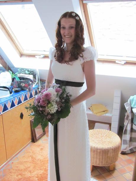 Šaty pro vysokou (těhotnou) nevěstu 38-42, 38