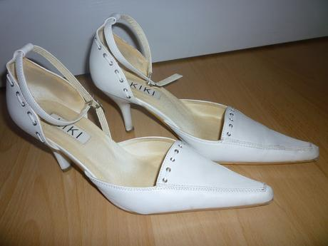 Biele svadobné topánky, 38