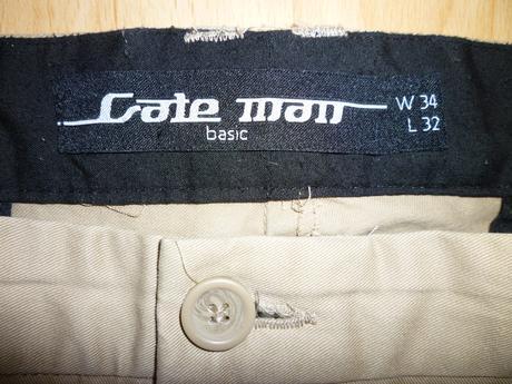 Elegantné pánske krémové nohavice - M, M