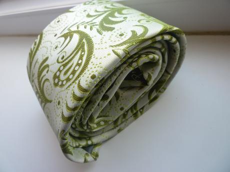 Zelená kravata (set) so vzorom,