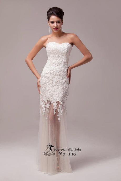 Krajkové svatební šaty - ivory , 32