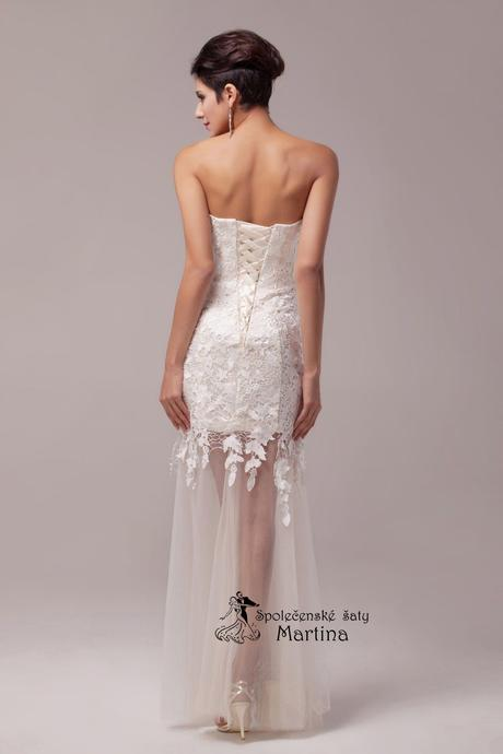 Krajkové svatební šaty - ivory , 34