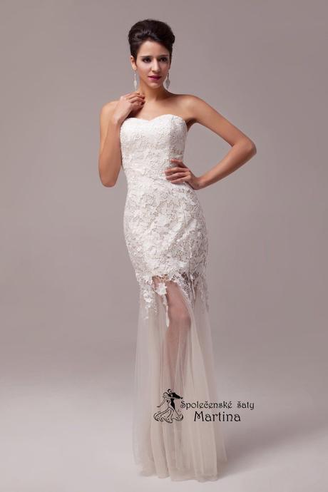 Krajkové svatební šaty - ivory , 36