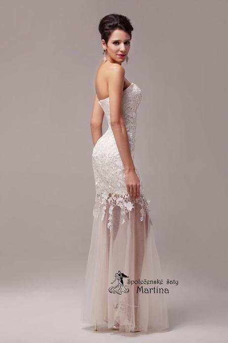 Krajkové svatební šaty - ivory , 42