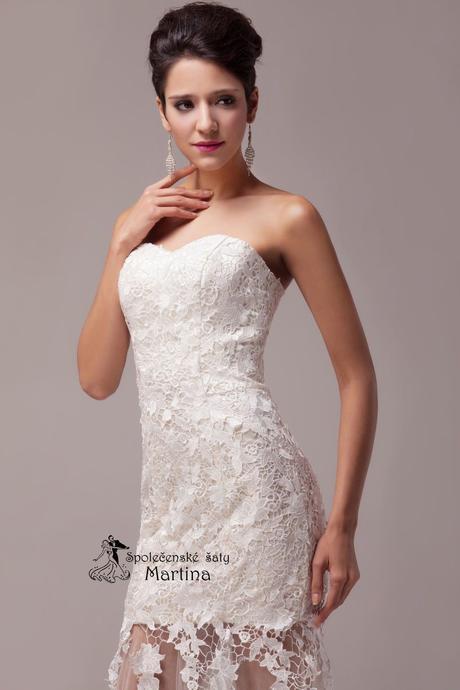Krajkové svatební šaty - ivory , 44