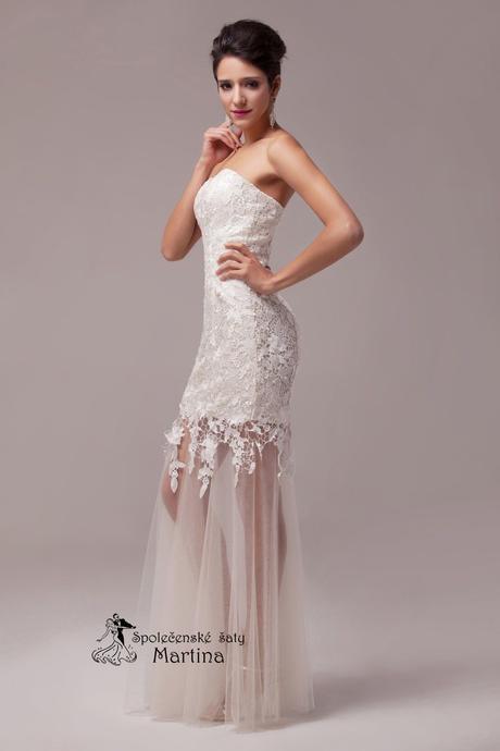 Krajkové svatební šaty - ivory , 46