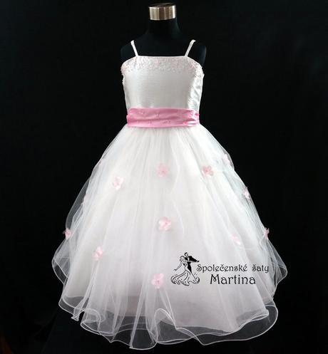 Společenské šaty pro družičku 1-12 let, 140